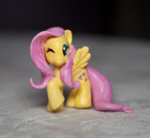 MLP: FiM Custom Sculpt BB Fluttershy by alltheApples