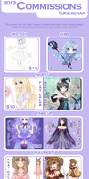 2013 Commissions by CaramelCaprice