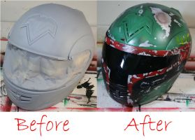 Airbrushed Helmet. by Spanglerart