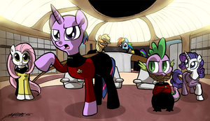 Pony Trek TNG by WillDrawForFood1