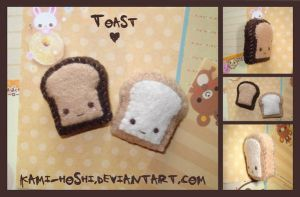 Toast Plushies by littlepaperforest