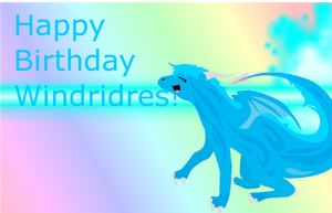 Happy Birthday Windridres! by Staarsa