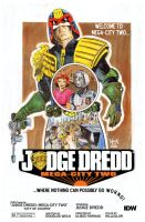 Judge Dredd Mega-City 2: City of Courts #4 cover by RobertHack
