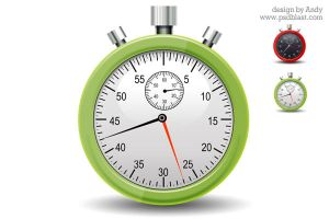 Stopwatch icon PSD by psdblast