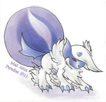 Mega 'Evil' Absol - Chibi by MadArtistParadise