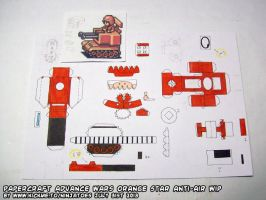 Colouring papercraft AW Anti-Air unit (WIP) by ninjatoespapercraft