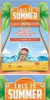 This is Summer Flyer Template by bouzix