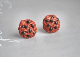 Chocolate Chip Cookie Studs by Madizzo