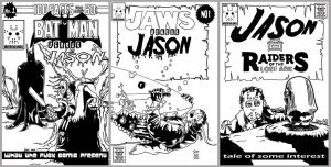 Jason fake comic book cover for Comic con by ibentmywookiee