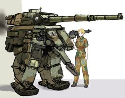 Leopard1 style Powered exoskeleton. by QU-RO-QURO