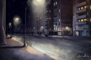 City -night light- by delira