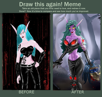 Liana Before and After by ArtByEdyn