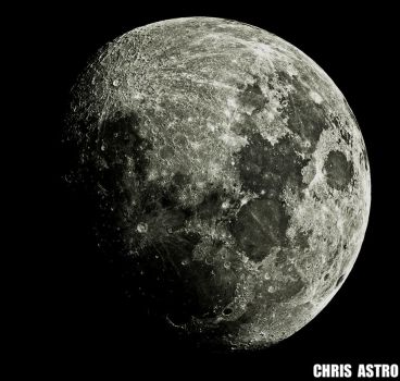 Waxing Gibbious Moon by ChrisAstro102
