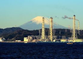 Fuji from Sagami Bay by shod