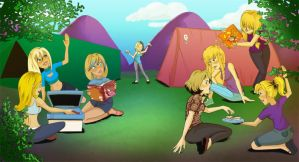 Commission: Camping Disaster by Card-Queen