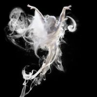 Woman in the smoke by Charolett