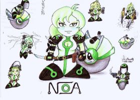 Noa: my new character by galactacaballero