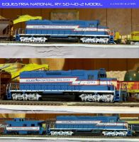 Equestria National Ry. SD-40-2 Model - HO Scale by lonewolf3878