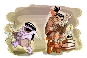 Keep it down, Gnar! by chief-orc