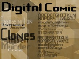 Digital Comic Type Specimen Sheet by MyImaginaryVisions