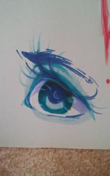 Anime eyes with colored pencil and prismacolors by 67katana