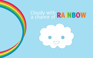 Cloudy with chance of RAINBOW by Appl3ju1ce