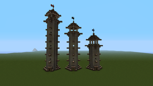 Medieval Watch Towers by PirateScott