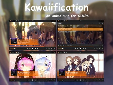 [AIMP4] Kawaiification Anime Skin by riefachan