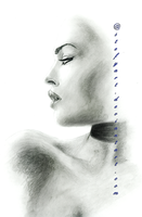 face in profile by stefyart