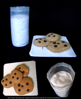 Milk and Cookies Soft Sculpture by Carina0