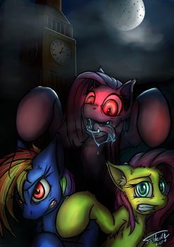 Whos afraid of the pink pony? by foldeath