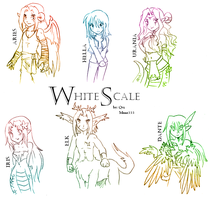 The cast of WhiteScale by Qvi