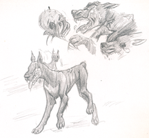 Unused TBOS pic: zombie dogs by Tirrih