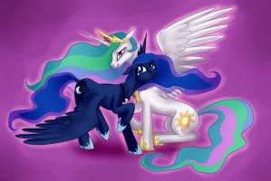 Luna and Tia Get well card by Tzelly-El