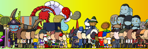 Scribblenauts' VG characters by McGenio