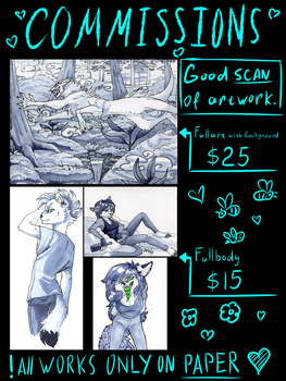 COMMISSIONS {4 SLOTS LEFT} by Deroko