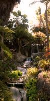 Botanical Falls by sciph