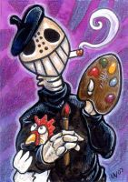 Painter Skeleton by ursulav