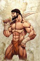 Leonidas poses by Kid-Destructo
