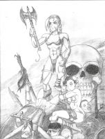 Savage Sword Of Cammy the Barbarian by JB4C