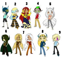 Point Adoptables Batch 3 by hatirrisworldproject