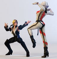 Christie vs Helena 3DS Render by x2gon