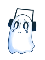 Napstablook by ClefdeSoll