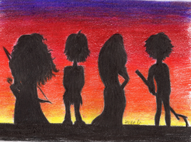 The Big Four at Sunset by icypopper12