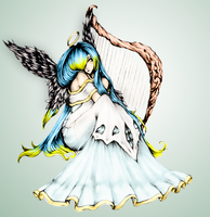 Angel Sona in colour by torchide