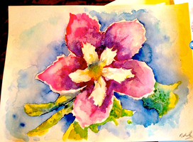 Watercolour Flower by AmethystCreatures