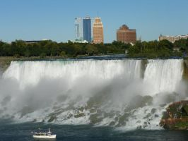american waterfall at niagara by Brycesigma