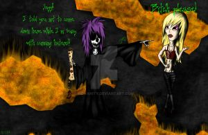 SkullKid and Jayyvonica by SidVanity