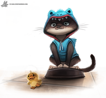 Day 792. Roomba Cat by Cryptid-Creations