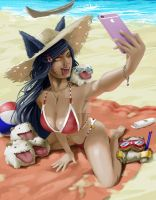 Ahri and the Poros big day out! by synsinsyn